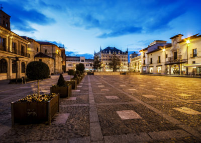 San Marcelo square in Leon, Spain.